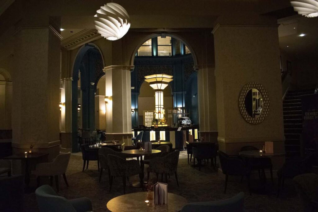 The art deco bar at the Midland Hotel and Spa.