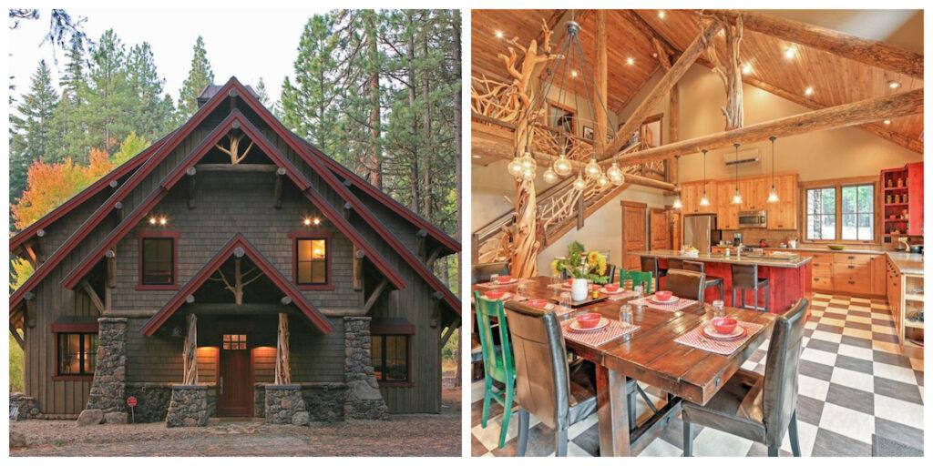 The Ashland Lodge cabin rental in Oregon.