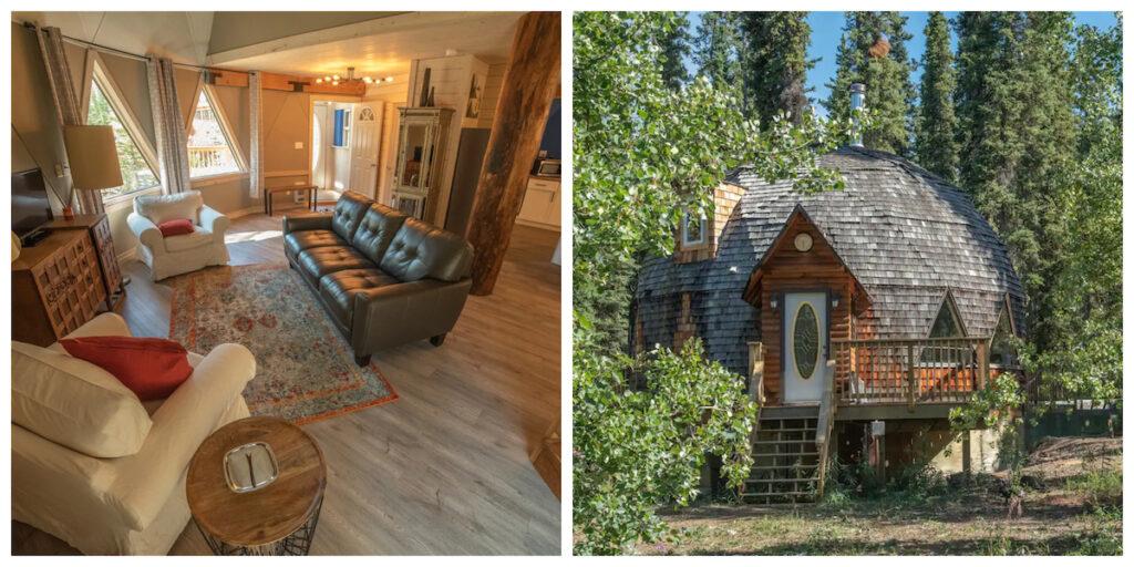 The Aurora Sun Cottage, a rental cabin in Canada.