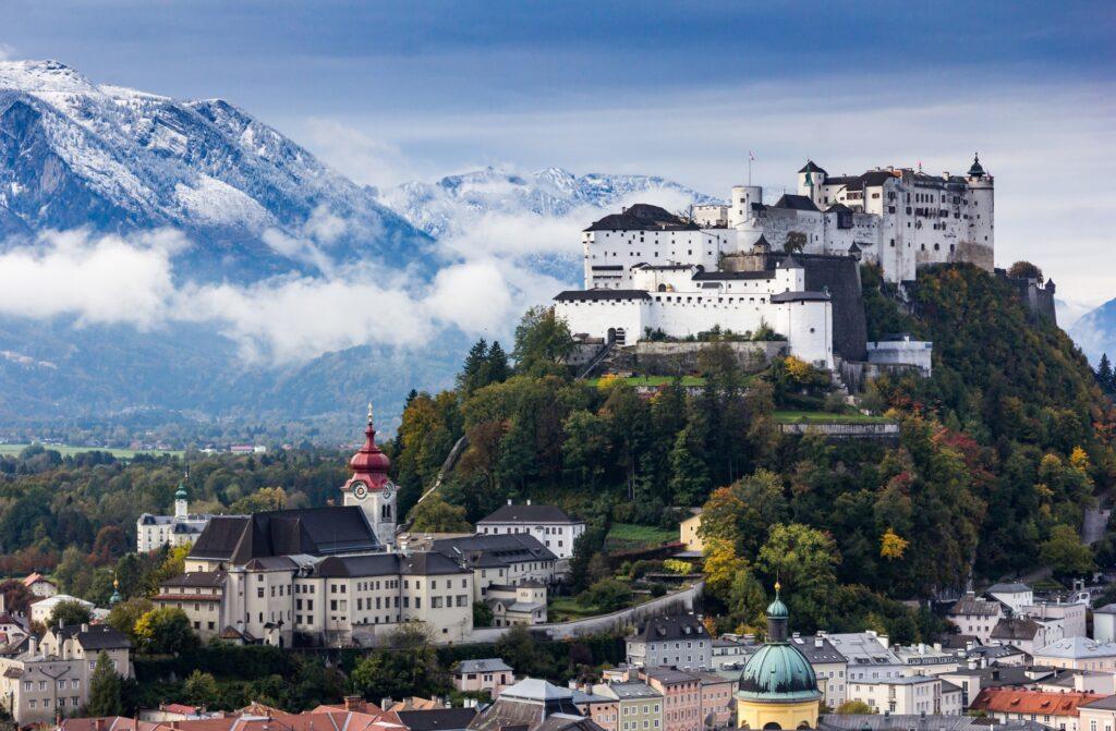 The Austrian town of Salzburg.