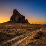 The awe-striking Shiprock in the Navajo Nation.