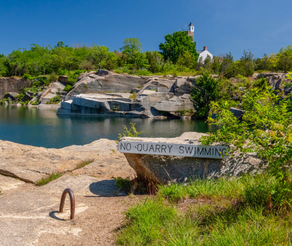 The Babson Farm Quarry in Halibut Point State Park.