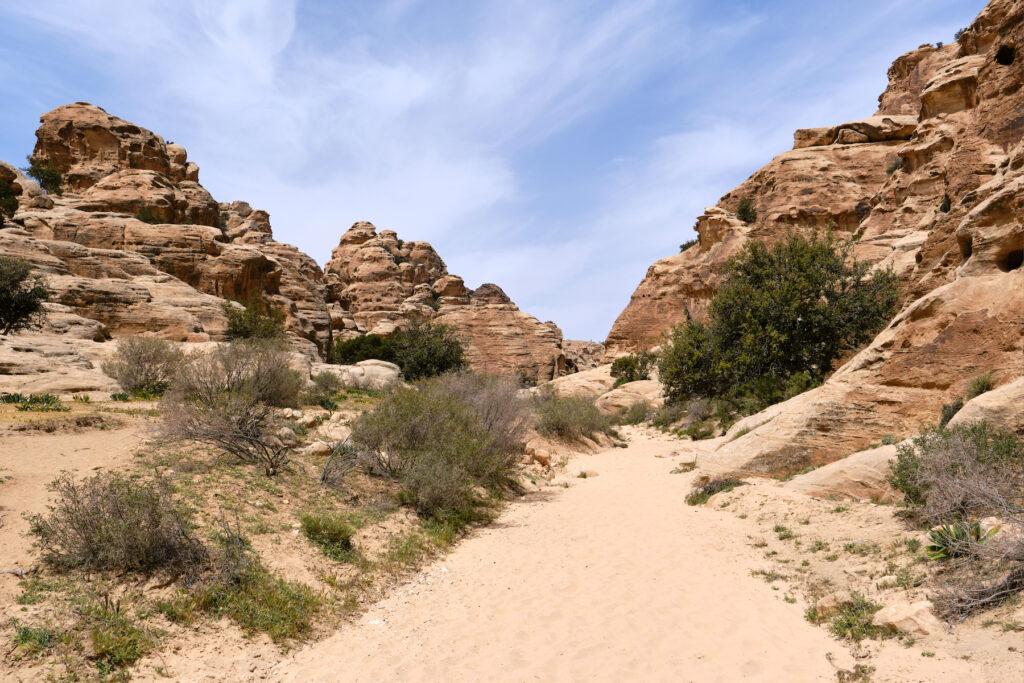 """The """"back door"""" hike in Petra, Jordan."""