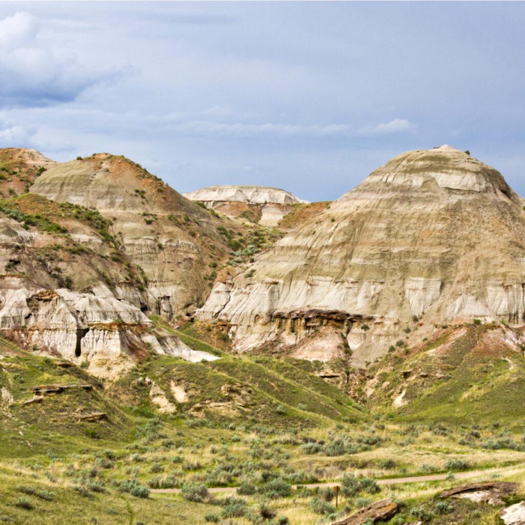 The badlands landscape, Dinosaur National Park, Alberta, Canada.