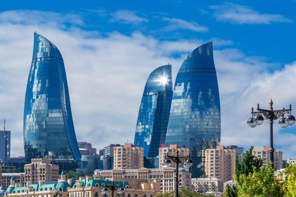 The Baku Flame Towers in Azerbaijan.