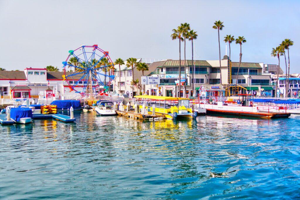 The Balboa Fun Zone on Newport Beach.