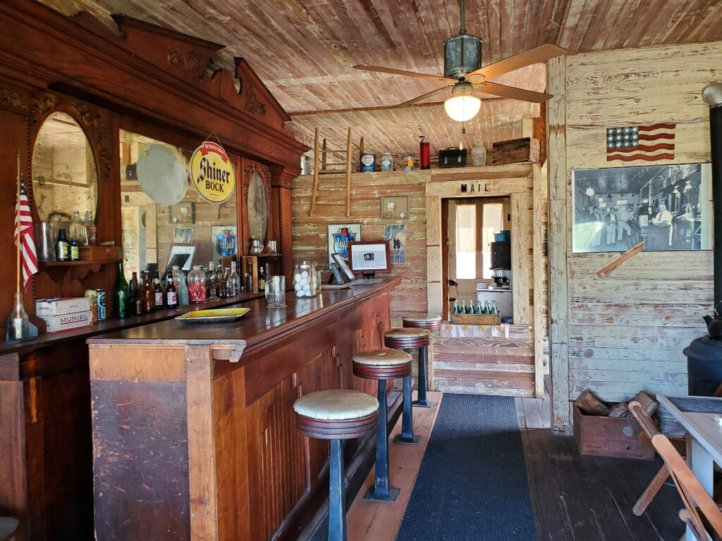 The bar at the General Store.