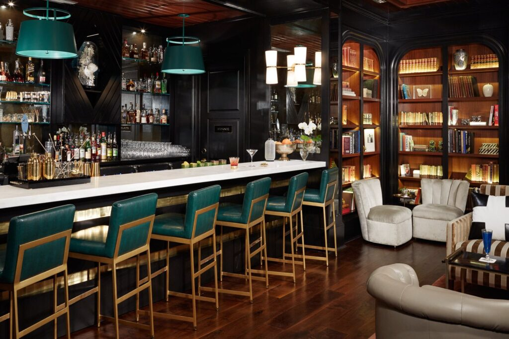 The bar at The Spectator Hotel.