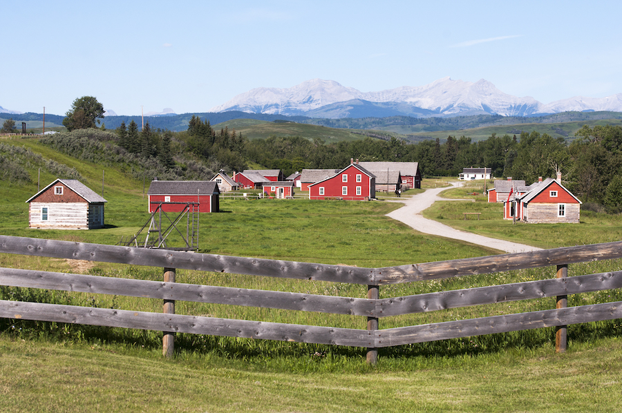 The Bar U Ranch National Historic Site in Canada.