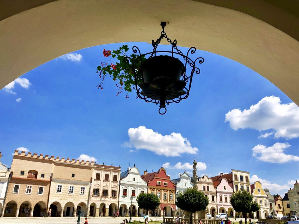 The baroque houses of Telc.