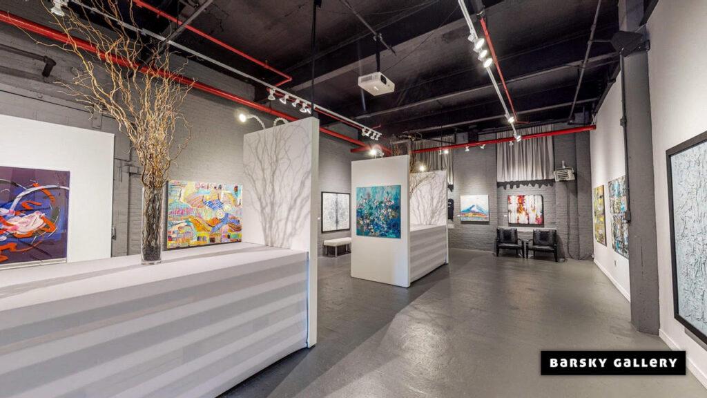 The Barsky Gallery in Hoboken.