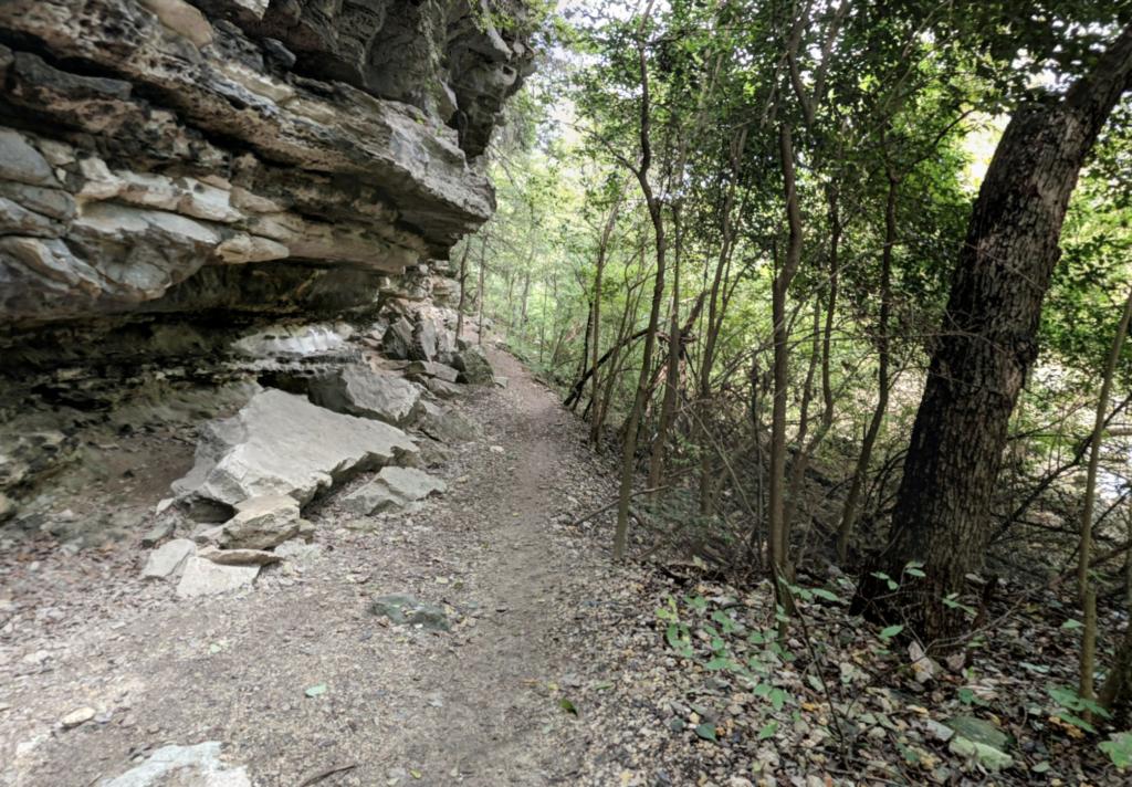 The Barton Creek Greenbelt trail in Austin, Texas.