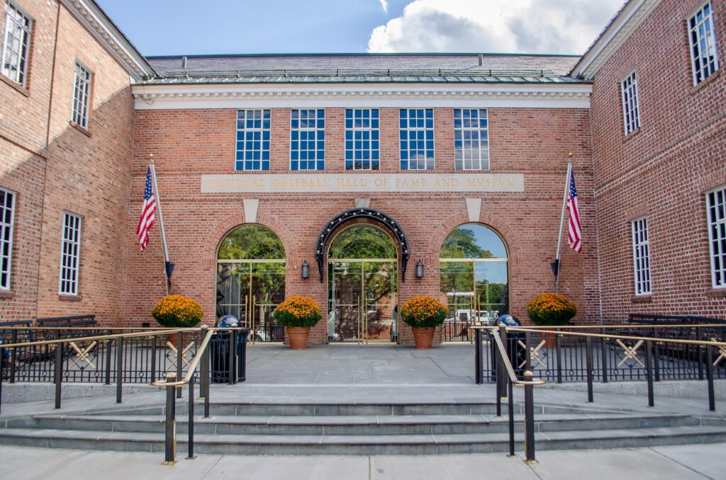 The Baseball Hall of Fame in Cooperstown.