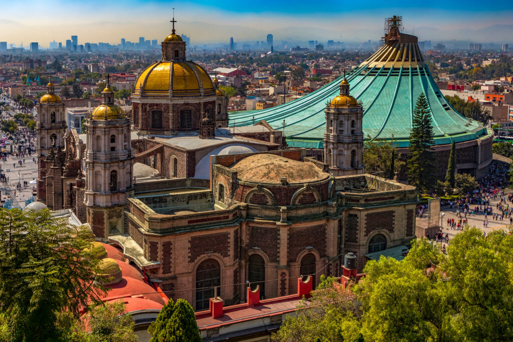 The Basilica of Our Lady of Guadalupe in Mexico City.