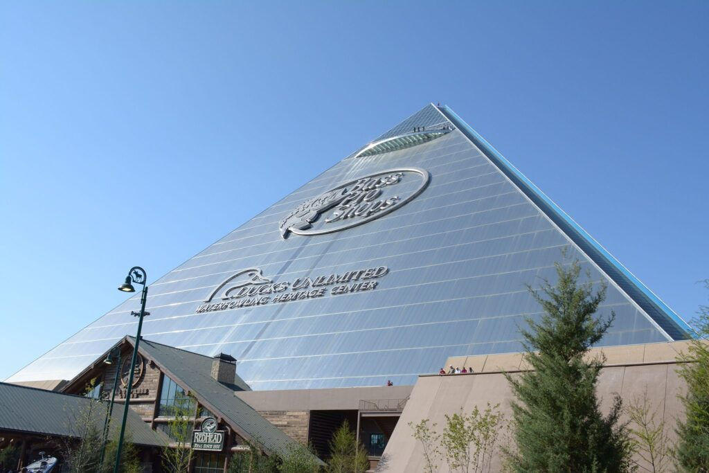 The Bass Pro Pyramid in Memphis.