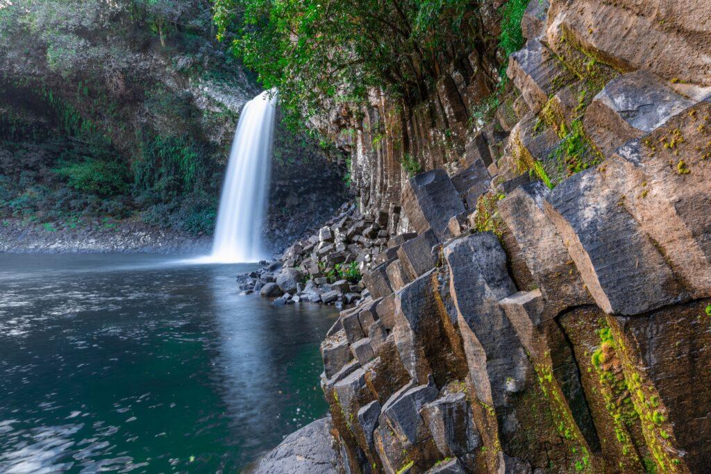 The Bassin La Paix waterfall on Reunion Island.