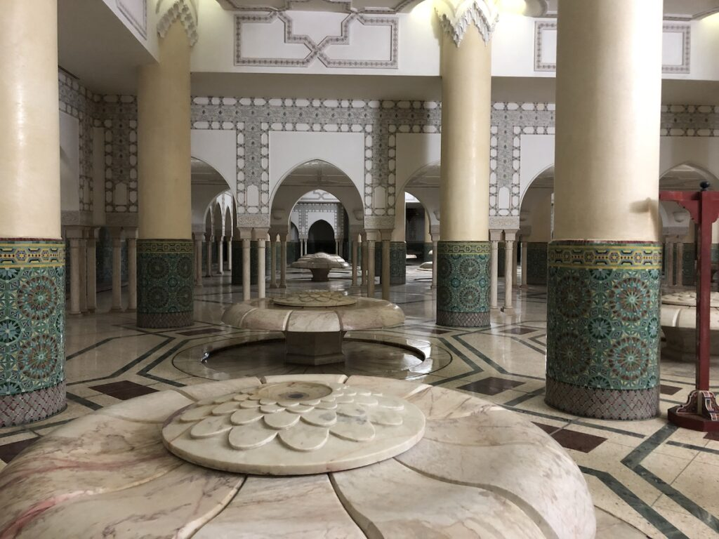 The Baths in the basement of Mosque of Hassan II.