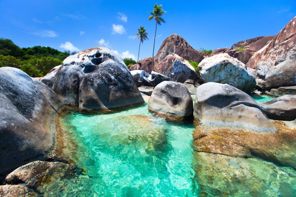 The Baths in the British Virgin Islands.