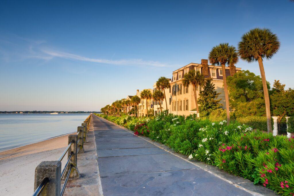 The Battery in Charleston, South Carolina.