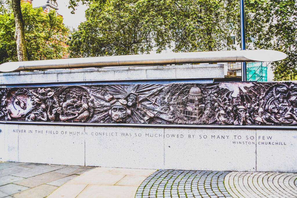 The Battle Of Britain Memorial in London.