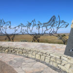 The Battle of Little Bighorn memorial in Montana.