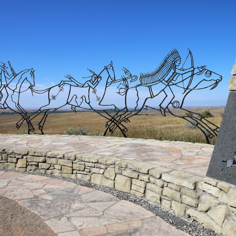 The Battle of Little Bighorn memorial in Montana.