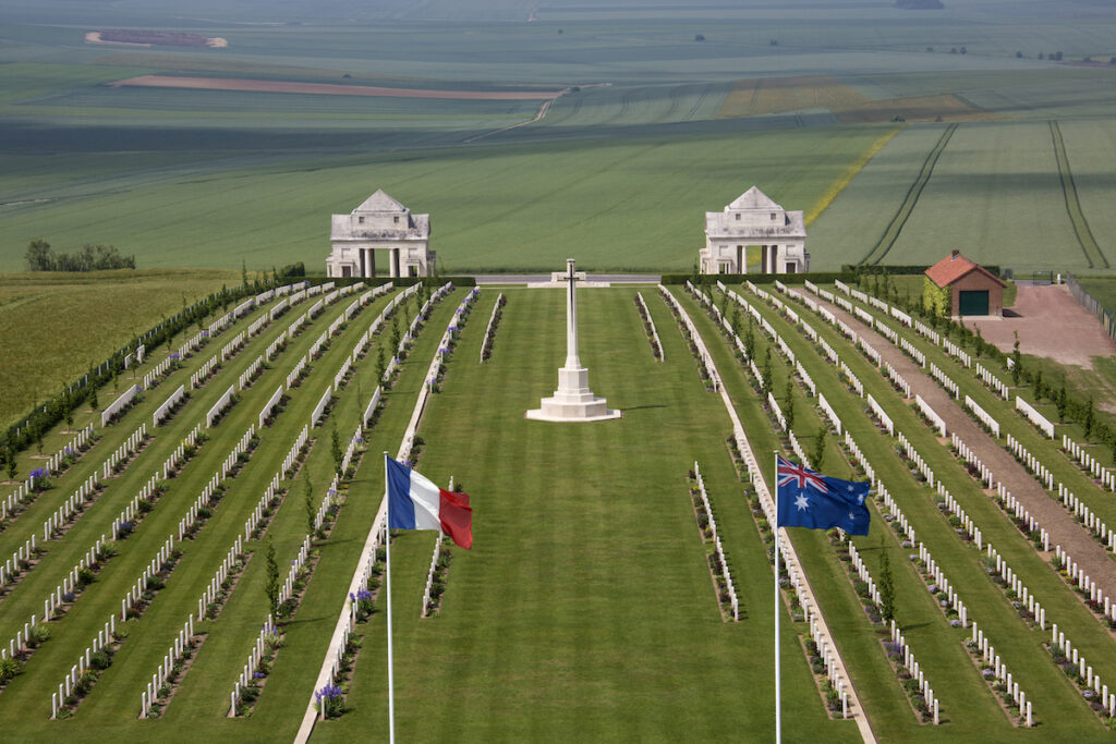 The Battlefields of the Somme near Amiens, France.