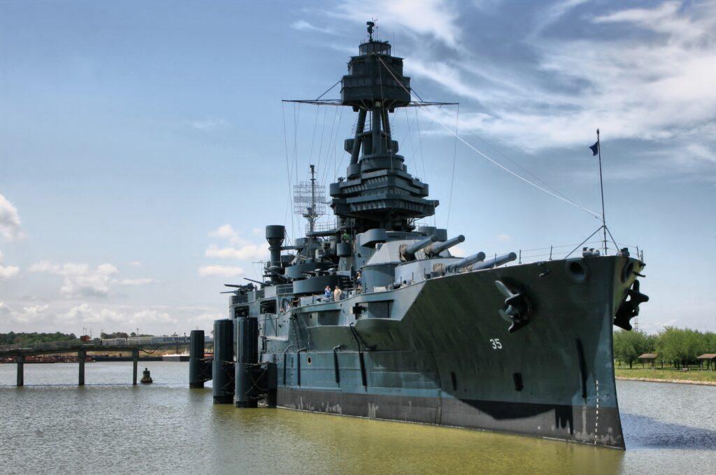 The Battleship Texas in Houston.