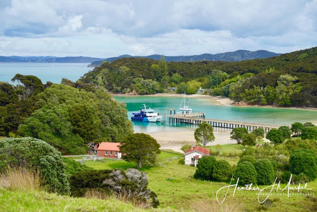 The Bay of Islands in Paihia, New Zealand.