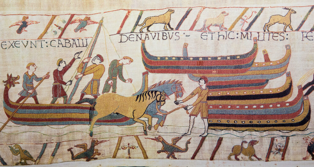 The Bayeux Tapestry in Bayeux, France.