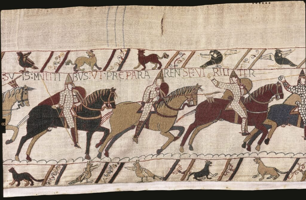 The Bayeux Tapestry in France.