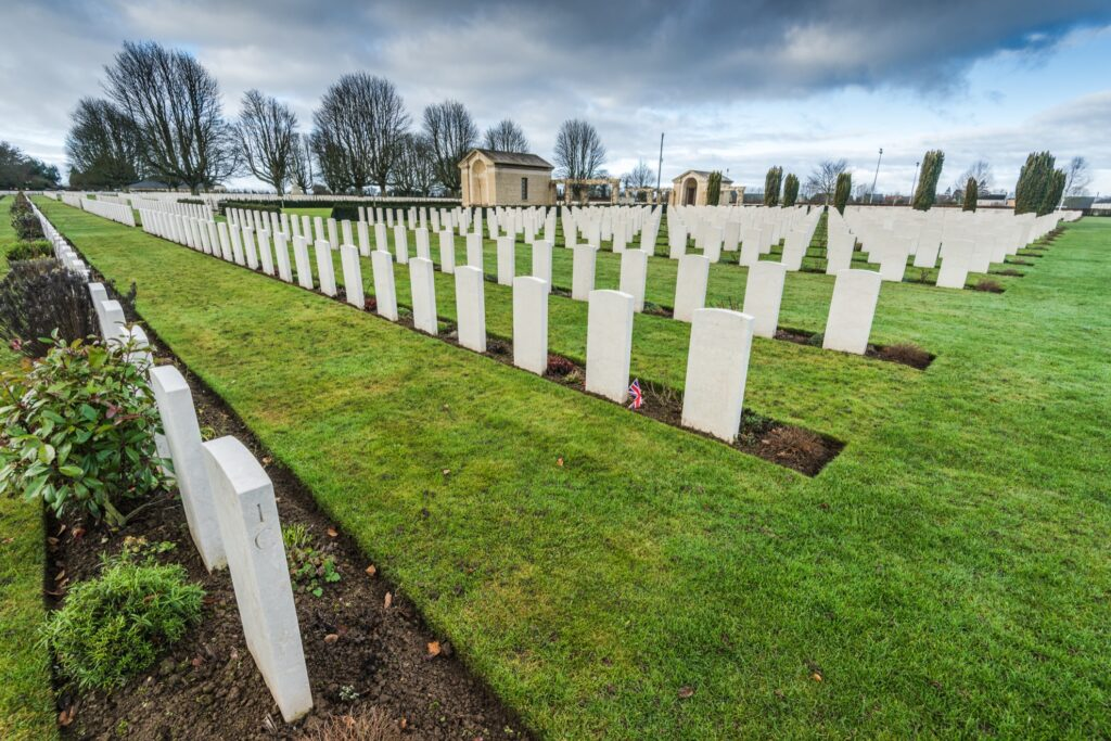 The Bayeux War Cemetery in France.