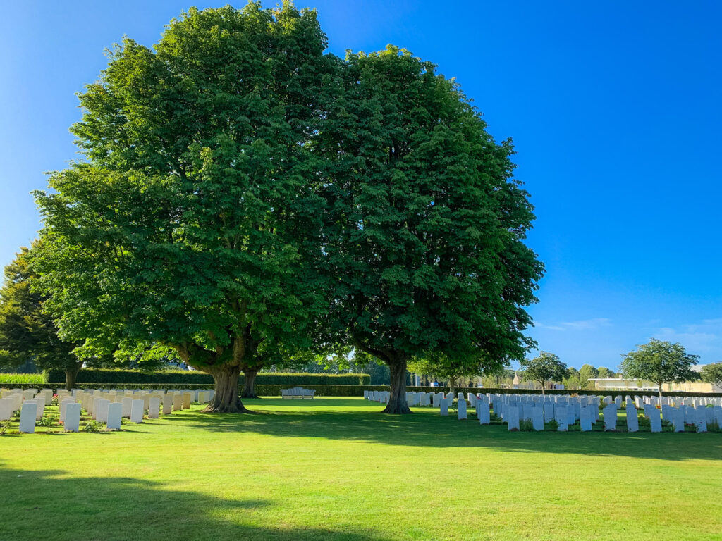The Bayeux War Cemetery in Normandy, France.