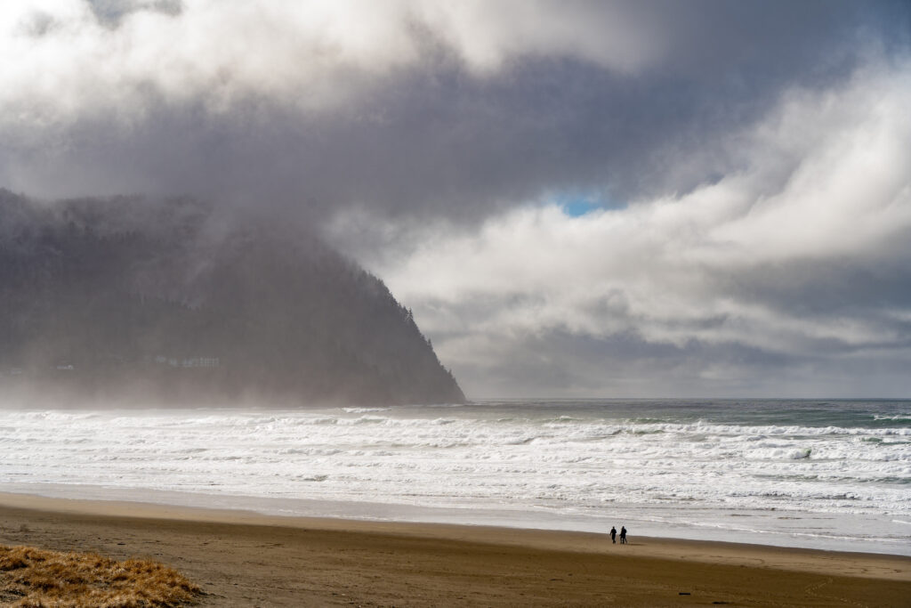 The beach along Tillamook Head in Oregon.