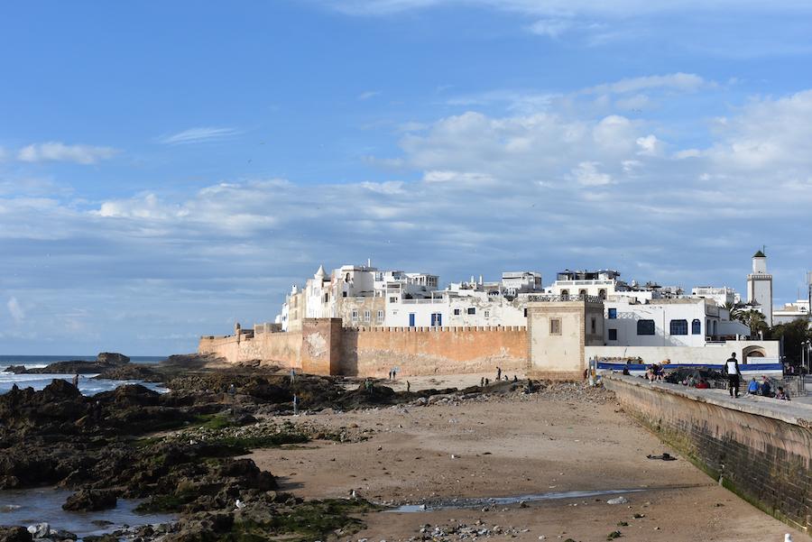 The beach at Essaouira, Morocco.