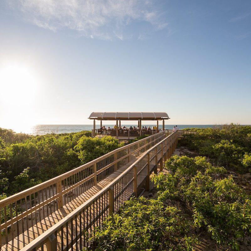 The beach bar at Ocean Edge Resort.