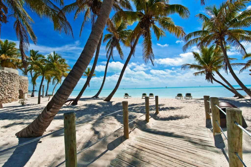 The beach in Key West, Florida.