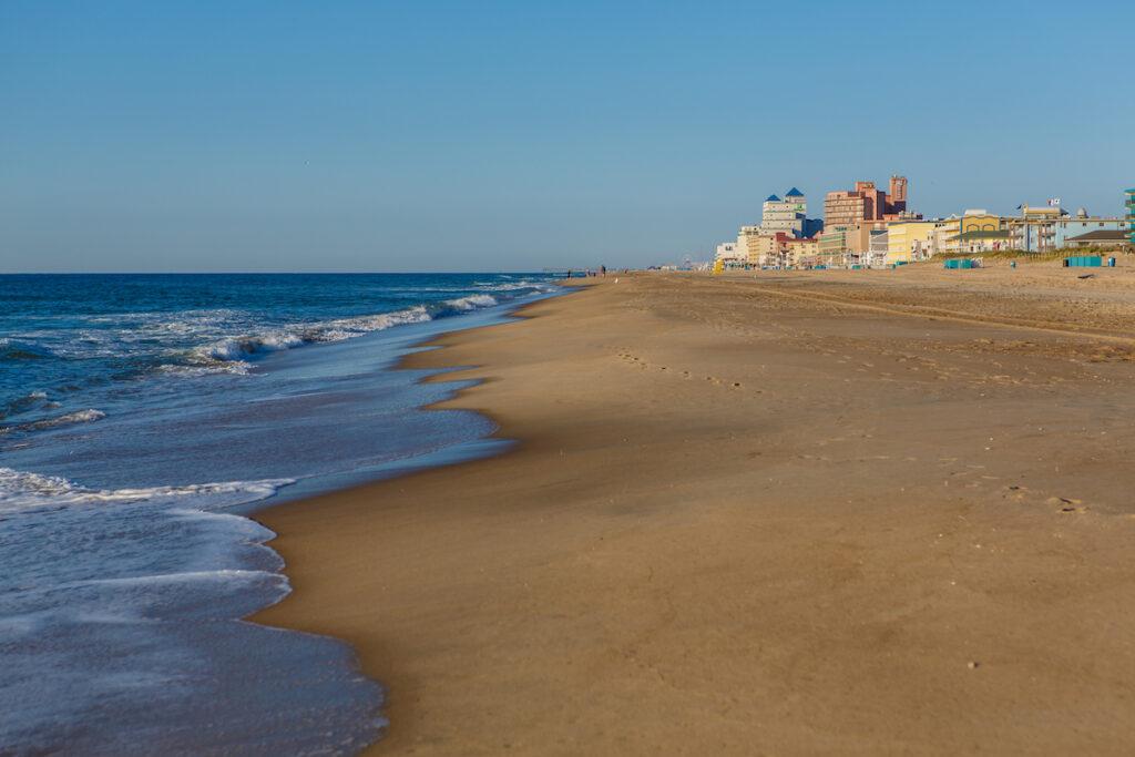 The beach in Ocean City, Maryland.