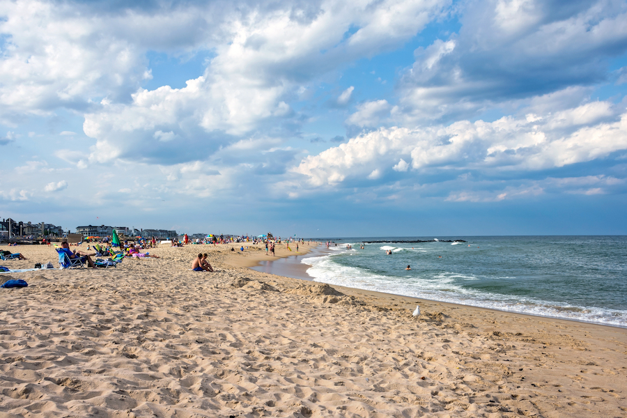The beach in Spring Lake, New Jersey.