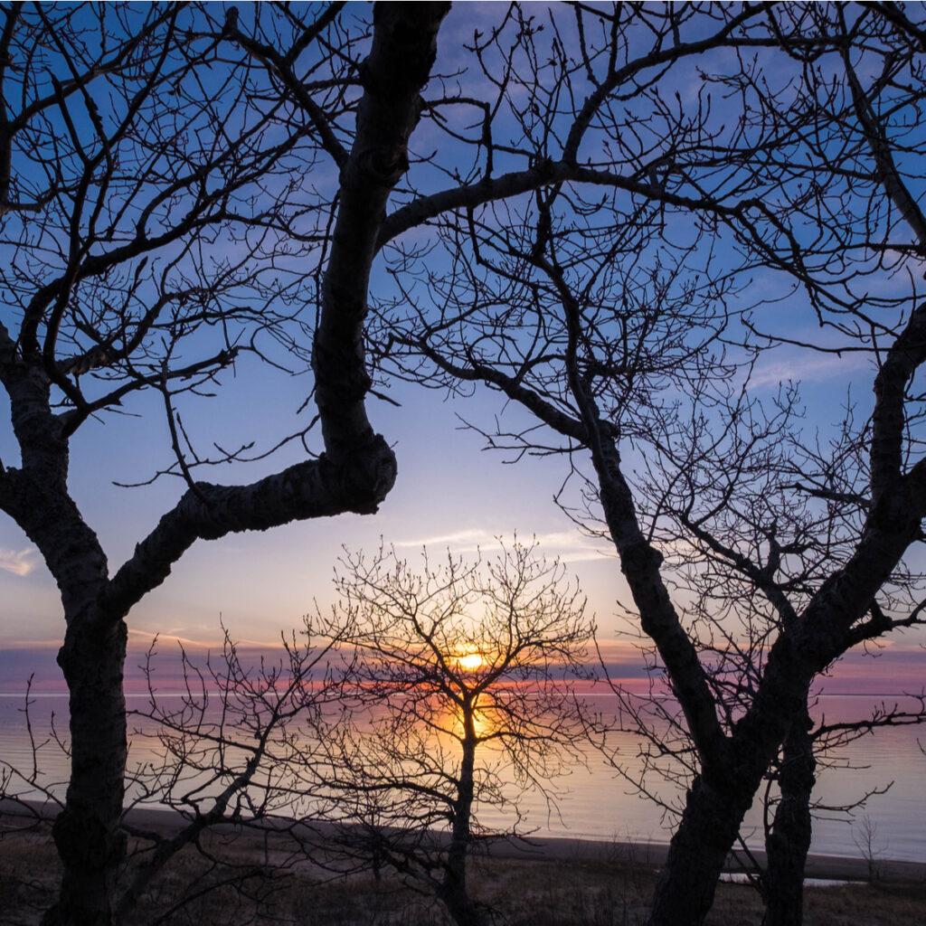 The beach near Petoskey State Park in Michigan.