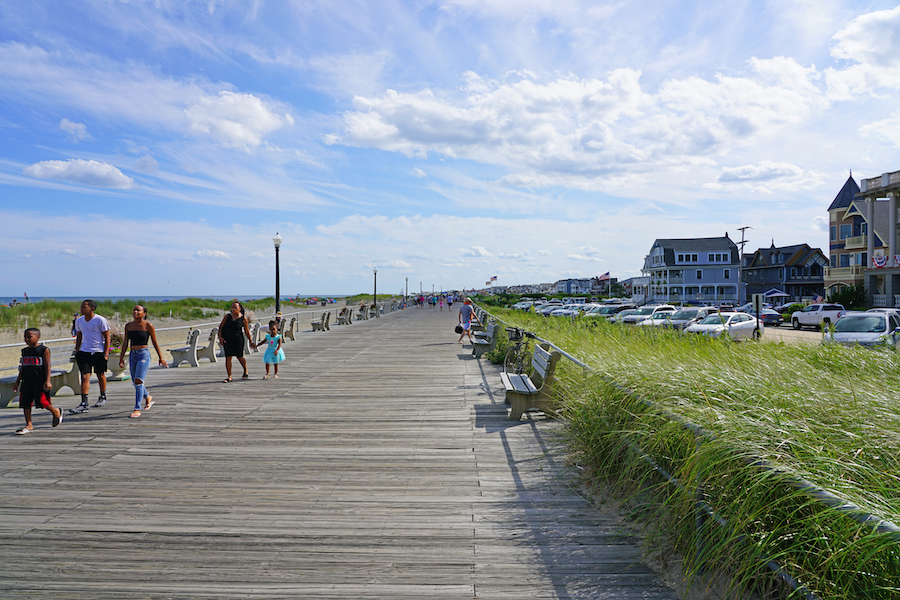 The beach town of Ocean Grove, New Jersey.