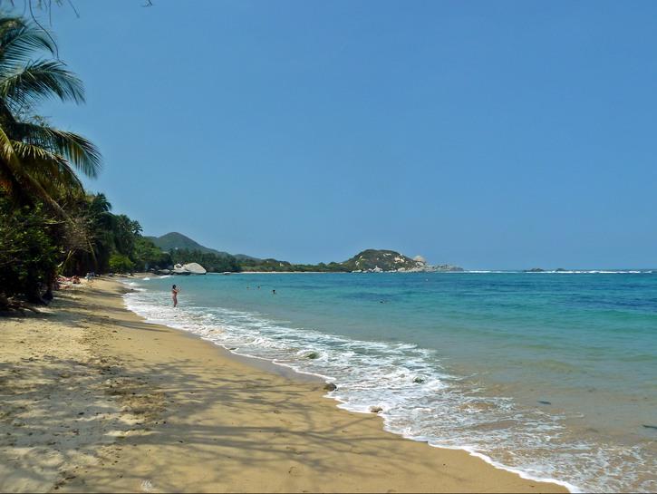 The beaches of Tayrona National Natural Park
