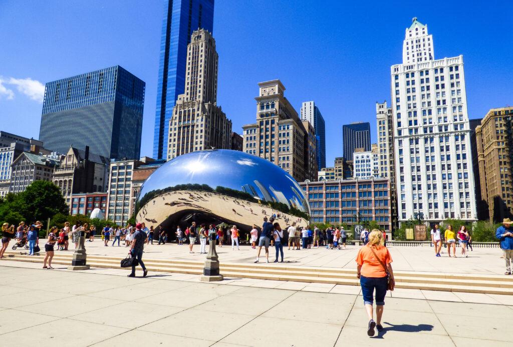 The Bean in Chicago's Millennium Park.