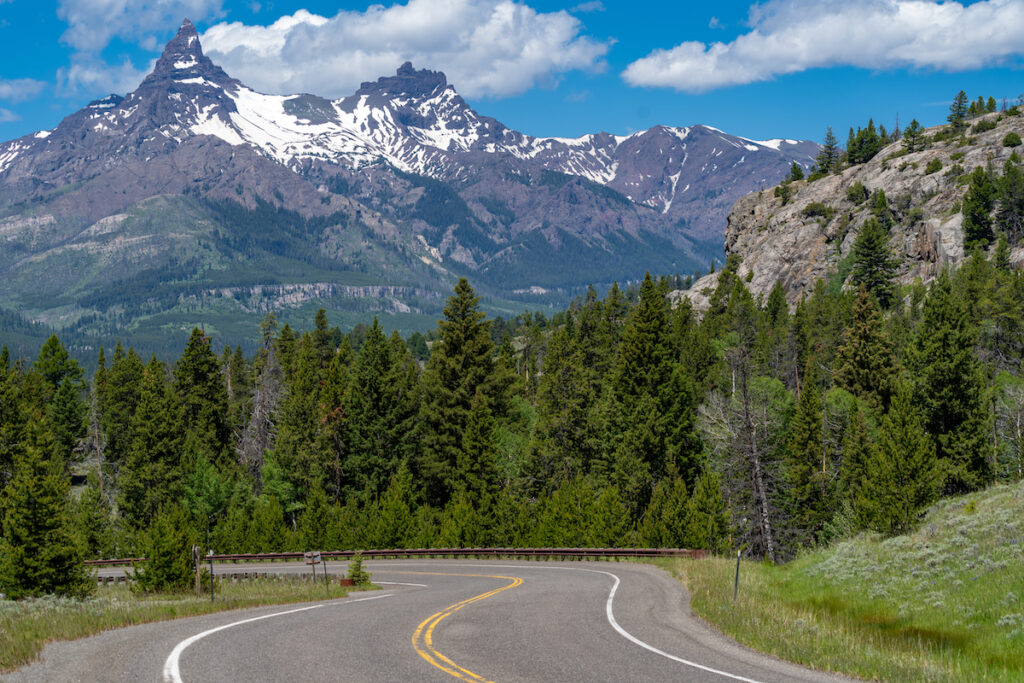 The Beartooth Scenic Byway in Montana.