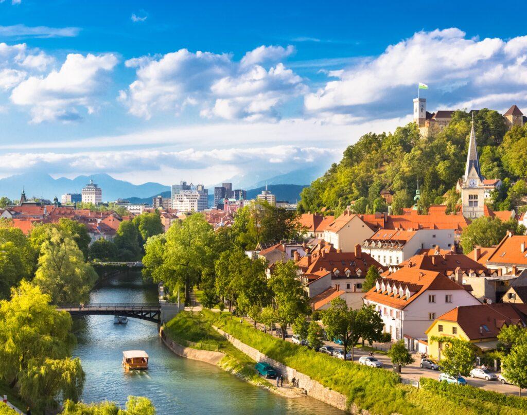 The beautiful city of Ljubljana, Slovenia.