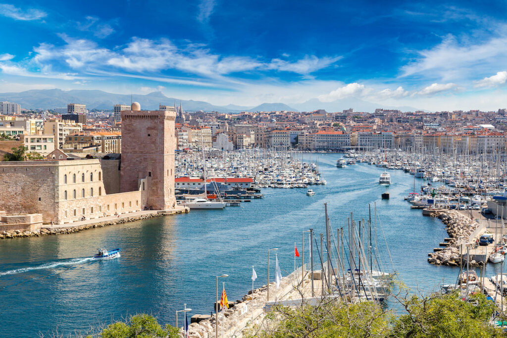 The beautiful city of Marseille, France.