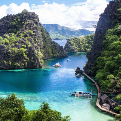 The beautiful Coron Island in the Philippines.
