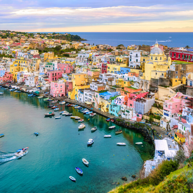 The beautiful island of Procida, Italy.