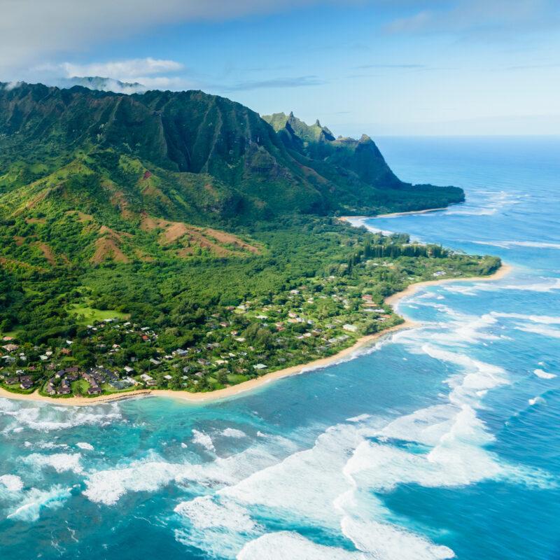 The beautiful landscape of Kauai, Hawaii.