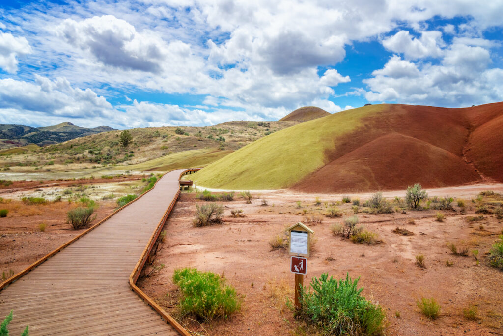 The beautiful Painted Hills of Oregon.